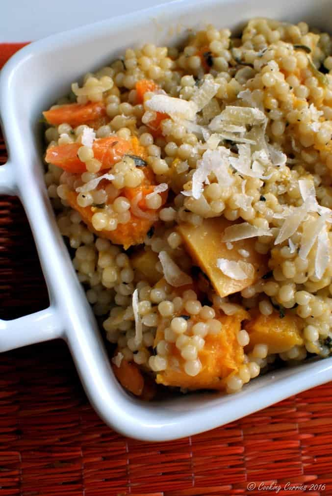Couscous Risotto withButternut Squash and Carrots - a fall Thanksgiving recipe - vegetarian (3)