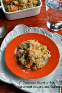Couscous Risotto with Butternut Squash and Carrots