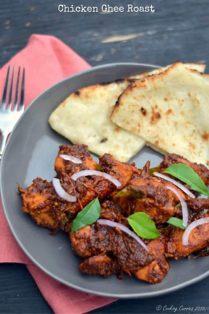 Kerala Style Chicken Ghee Roast - www.cookingcurries.com
