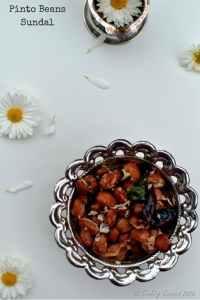 Pinto Beans Sundal - Navarathri / Navratri