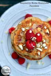 Raspberry White Chocolate Pancakes – FoodieMamas