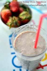 Strawberry Honey Chia Smoothie