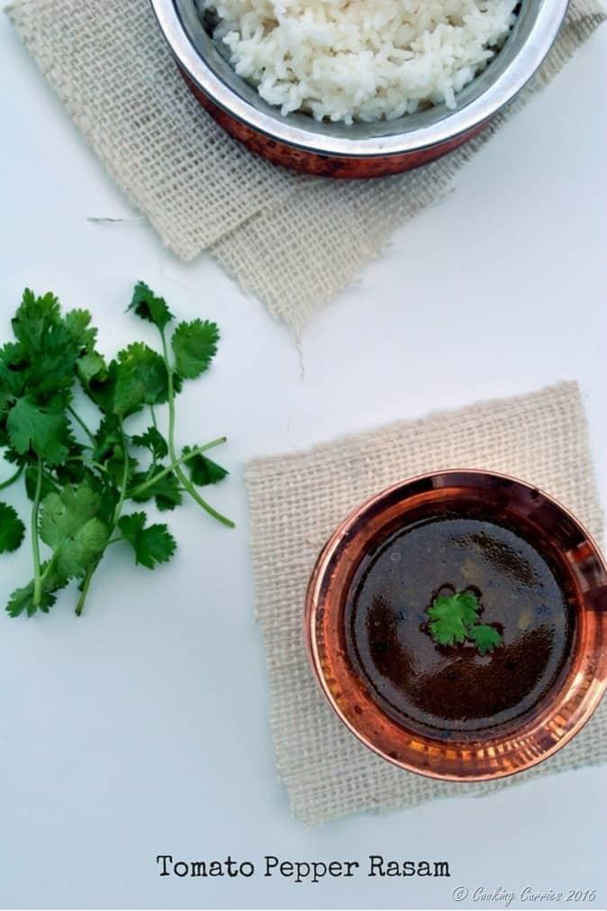 Tomato Pepper Rasam - Kerala Sadya Recipe - www.cookingcurries.com