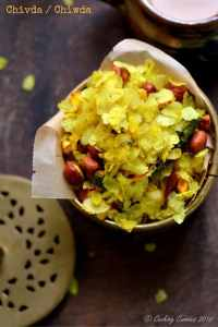 Chivda–Savory Beaten Rice Flakes with Peanuts