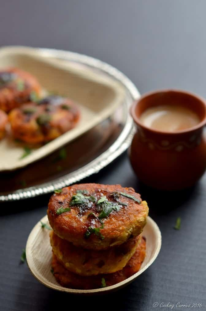 Paneer Butternut Squash Tikkis - Appetizers - Indian Food - Vegetarian - www.cookingcurries.com (3)