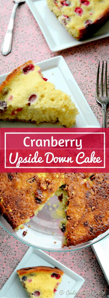 Cranberry Upside Down Cake - Thanksgiving Dessert