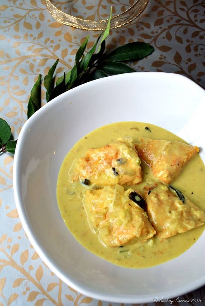 Fish Molee - Kerala Style Fish Curry with Coconut Milk - Kerala Christmas Recipes (4)