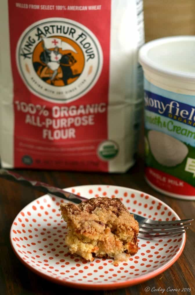 Ginger Pear Streusel Coffee Cake - Stonyfield Organic and King Arthur Flour Organic - Stonyfield Clean Plate Club (5)