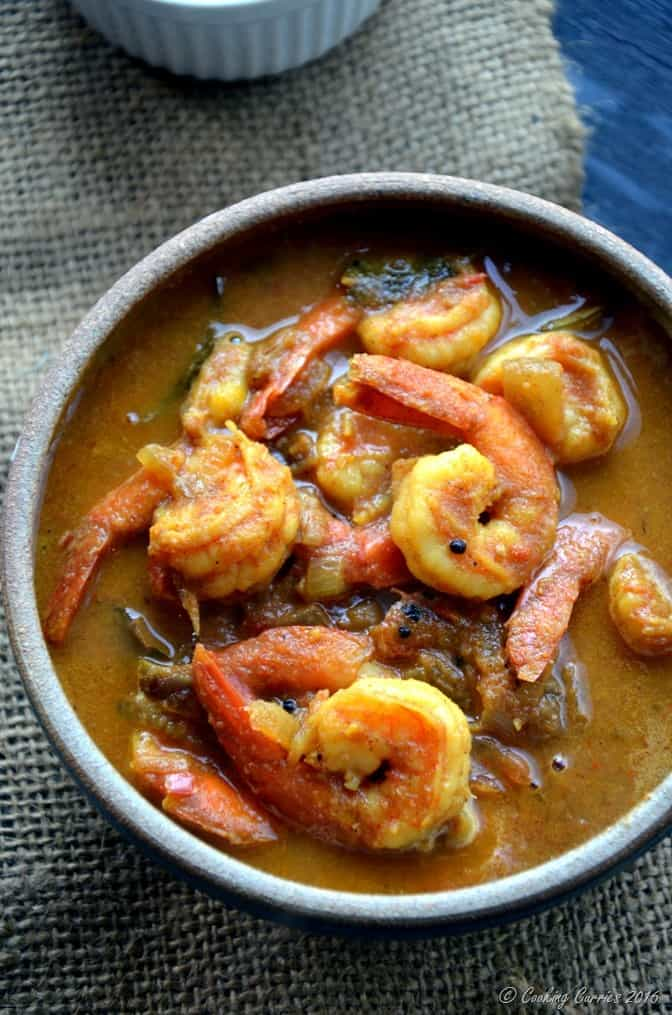 Kerala Style Prawns Tomato Curry - Shrimp Tomato Curry (3)