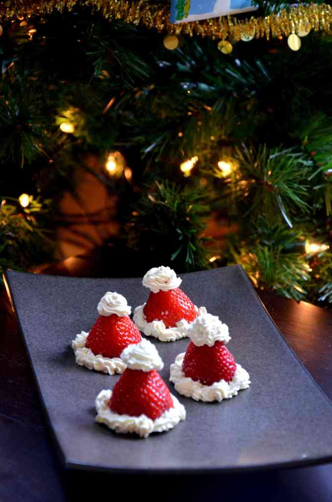 santa-hats-with-strawberries-and-whipped-cream-christmas-recipes