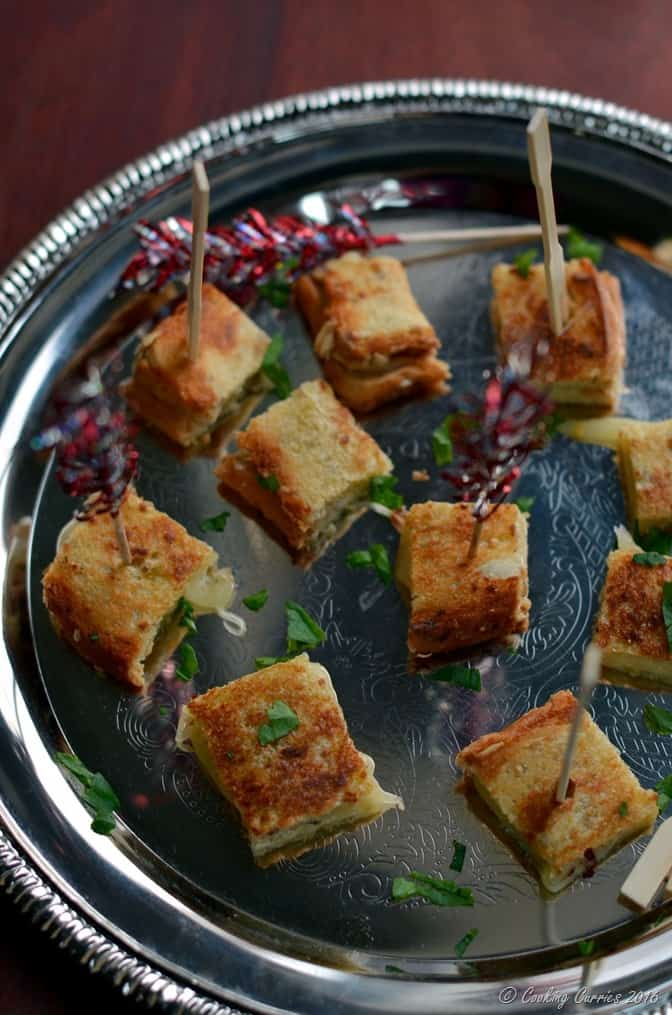 Truffle Grilled Cheese Sandwich Bites - Party Appetizer (2)