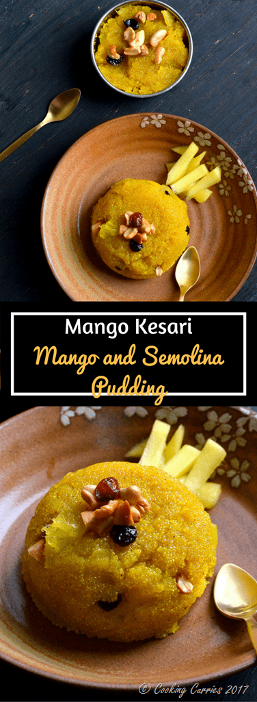Mango Kesari - Mango and Semolina Pudding