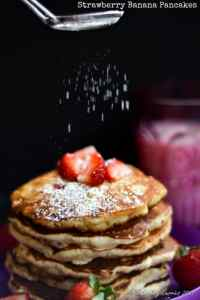 Strawberry Banana Pancakes | Little People Food