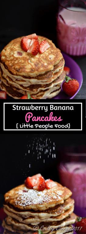 Strawberry Cake Batter Pancakes