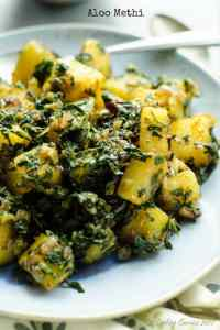 Aloo Methi – Potatoes with Fenugreek Leaves