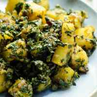 Aloo Methi - Potatoes with Fenugreek Leaves