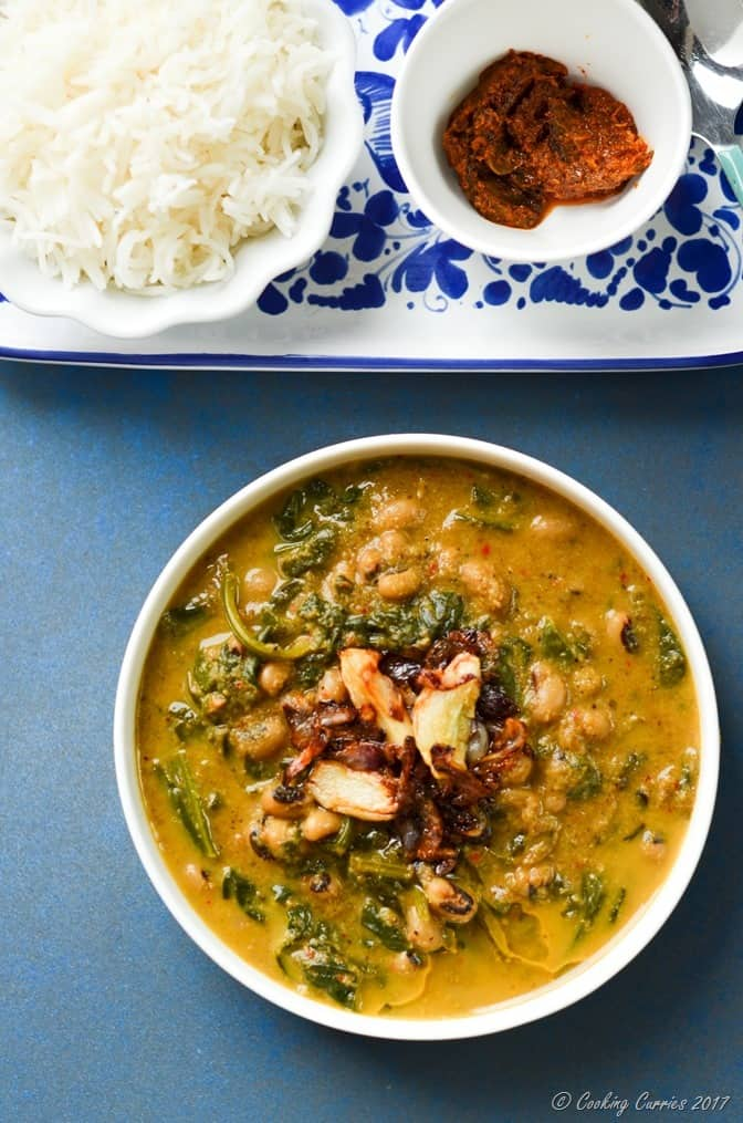 Mangalorean Black Eyed Peas and Spinach Curry (3 of 5)