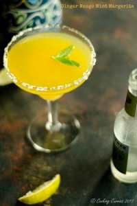Mango Margaritas with Ginger and Mint