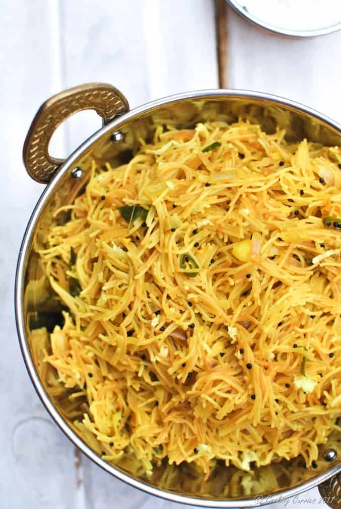 Lemon Semiya Upma South Indian Breakfast Lemon Vermicelli