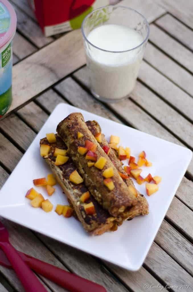 Peach Stuffed Vanilla Yogurt French Toast Roll Ups (2 of 6)