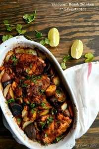 Tandoori Roast Chicken and Vegetables