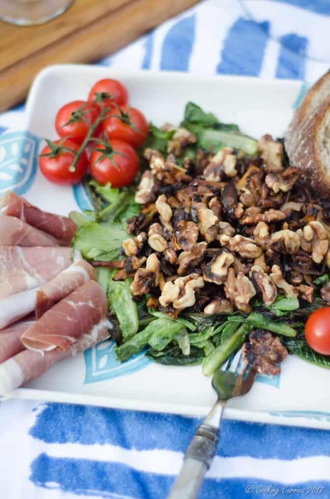 French Backyard Picnic - Warm Mushroom Salad Recipe (10 of 10)