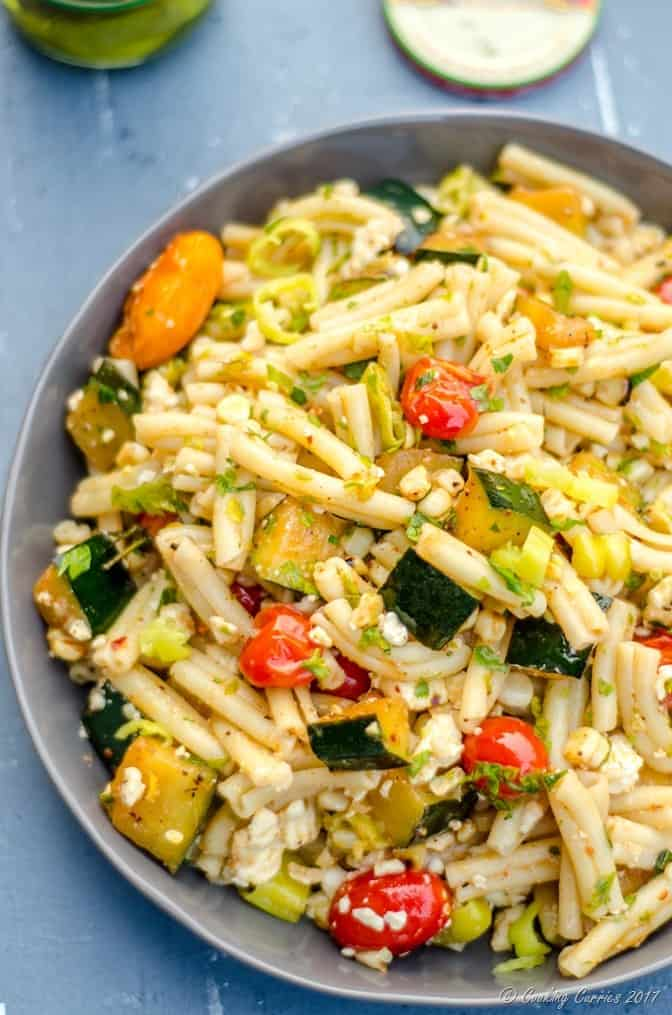 Mediterranean Pasta Salad with Grilled Summer Vegetables (2 of 7)
