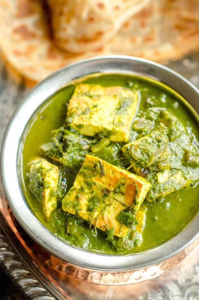 Palak Methi Paneer - Spinach and Fenugreek Paneer Curry (2 of 5)