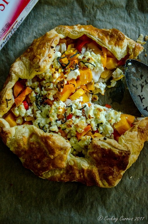 Butternut Squash Goat Cheese Galette {Video Recipe ...
