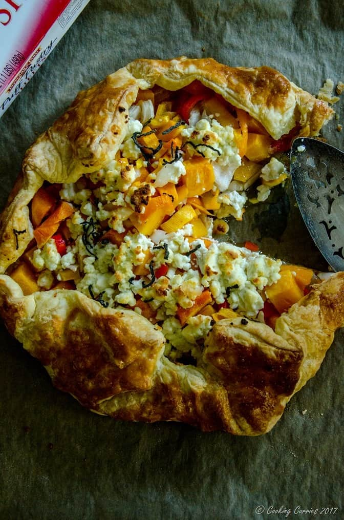 recipe: butternut squash goats cheese puff pastry [8]