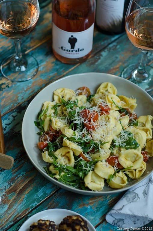 Lemon Garlic Tortellini Salad - Spring Picnic  (5 of 6)