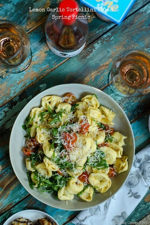 Lemon Garlic Tortellini Pasta Salad – A Spring Picnic Recipe