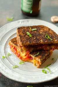 Spicy Tomato Grilled Cheese Sandwich