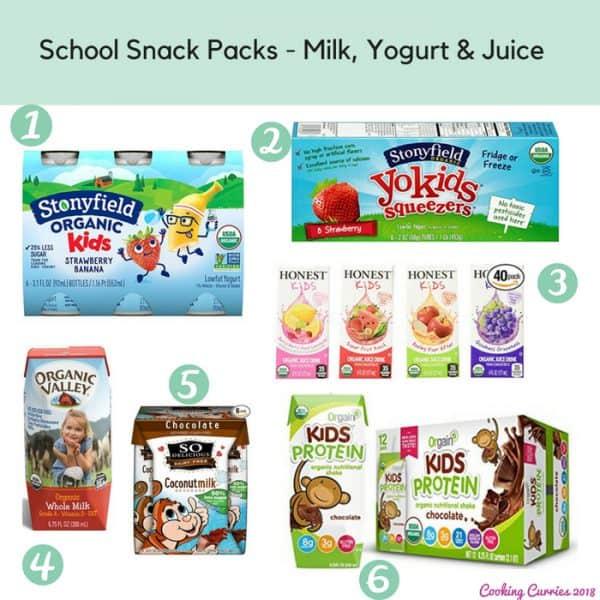 School Snack Packs - Milk, Yogurt & Juice