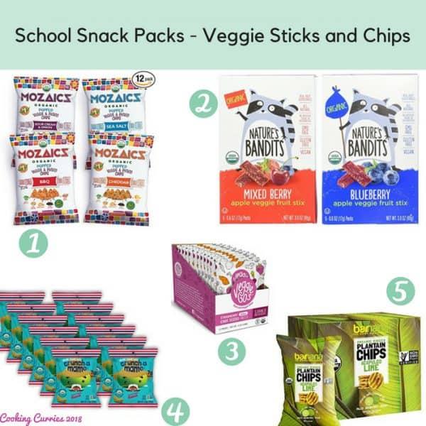 School Snack Packs - Veggie Sticks and Chips
