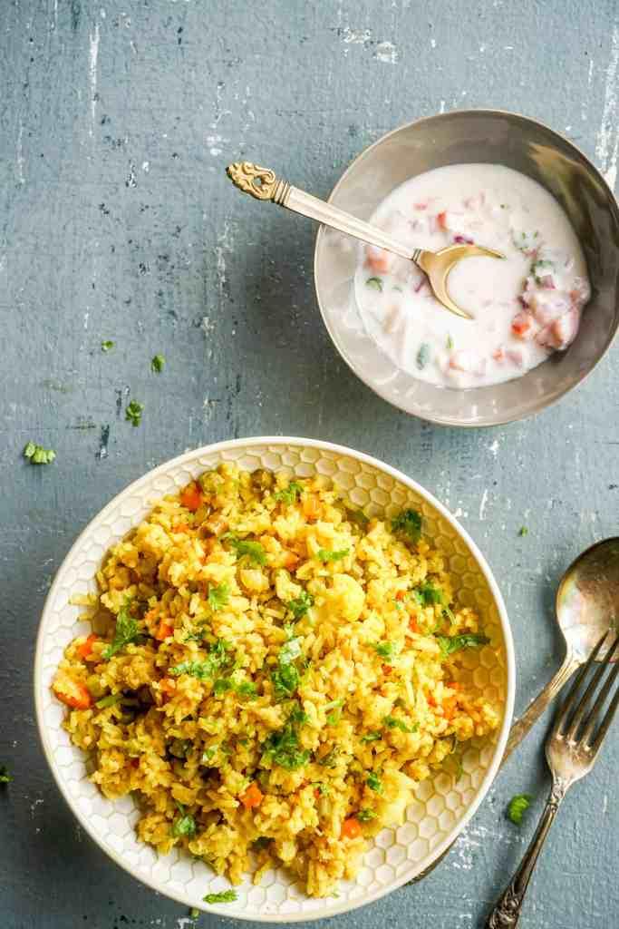 Instant Pot Vegetable Masala Rice