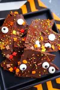 Halloween Dark Chocolate Bark