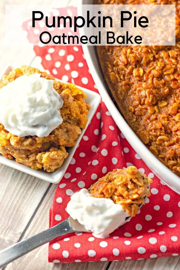 Pumpkin Pie Oatmeal Bake