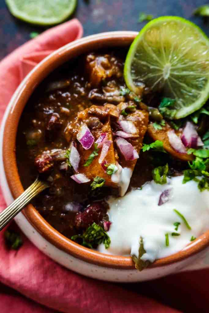 Instant Pot Vegetarian Butternut Squash and Beans Chili