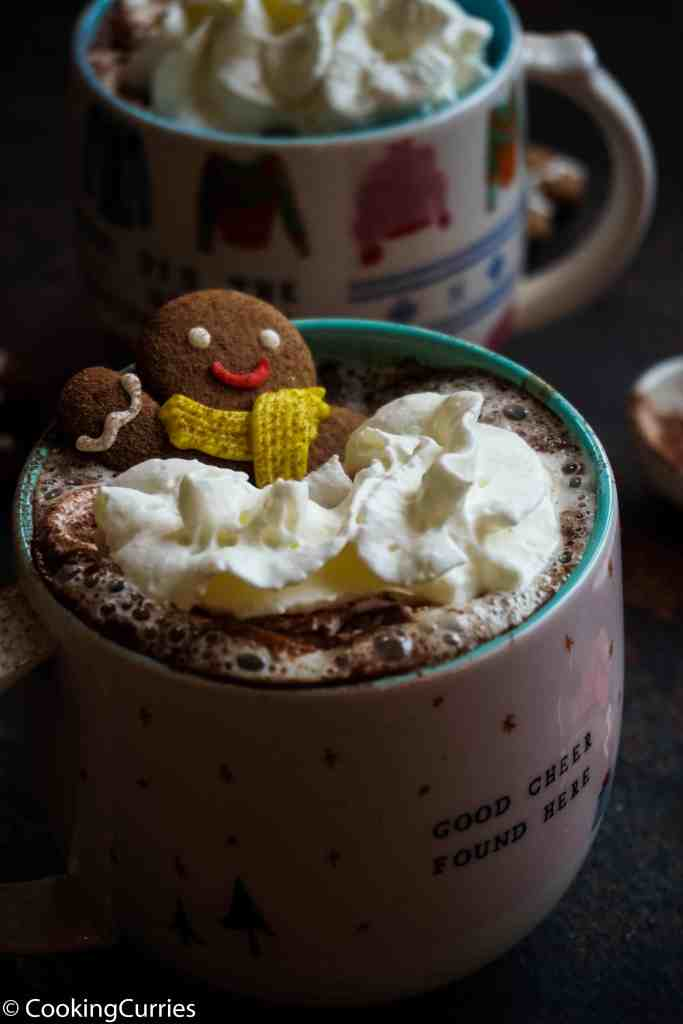 Vegan Gingerbread Hot Chocolate