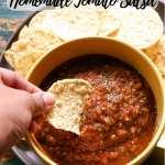 Restaurant Style Homemade Tomato Salsa