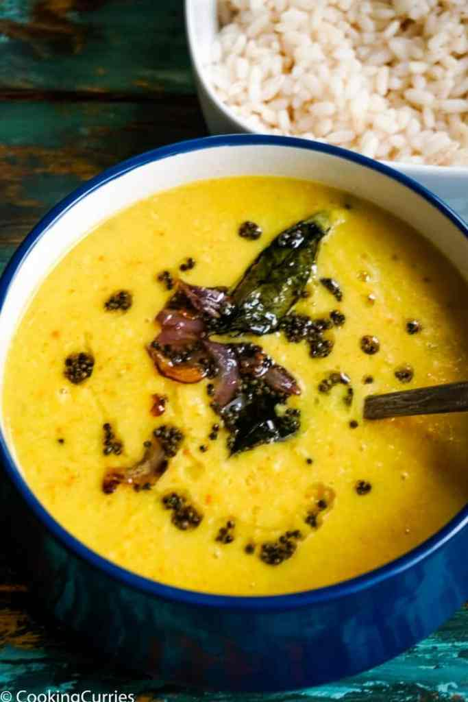 Instant Pot Parippu Curry - Instant Pot Dal with Coconut