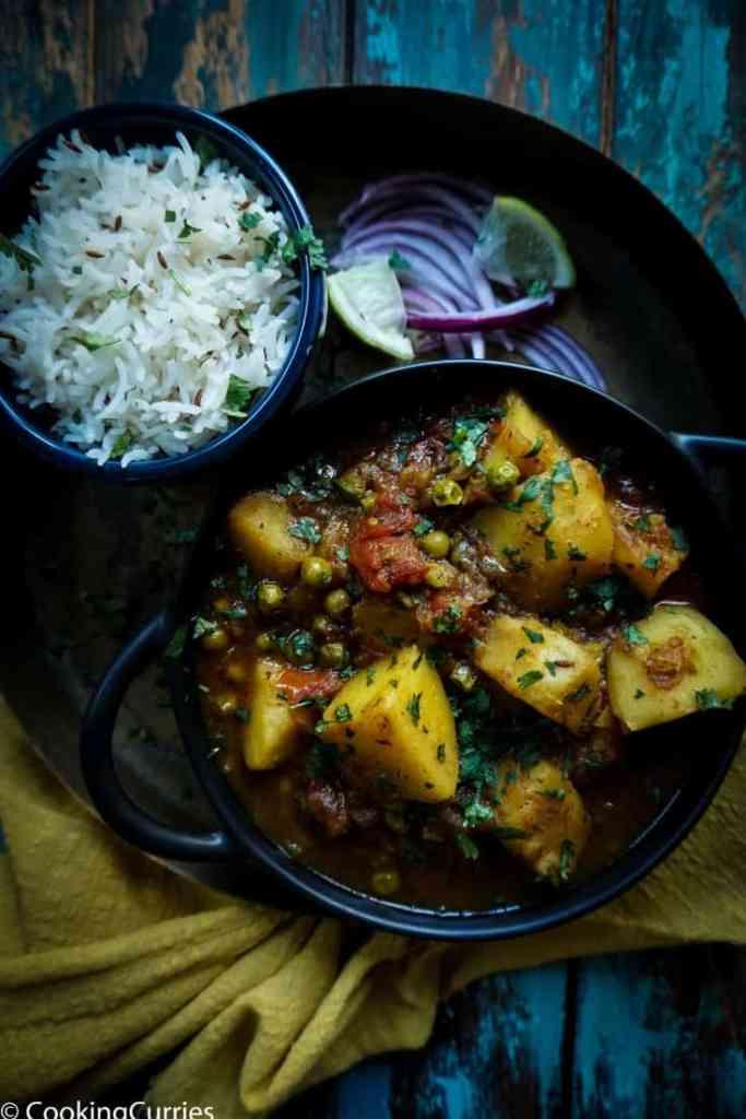 Instant Pot Aloo Matar - Instant Pot Potato and Green Peas Curry