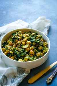 Spinach and Chickpea Saute with Coconut