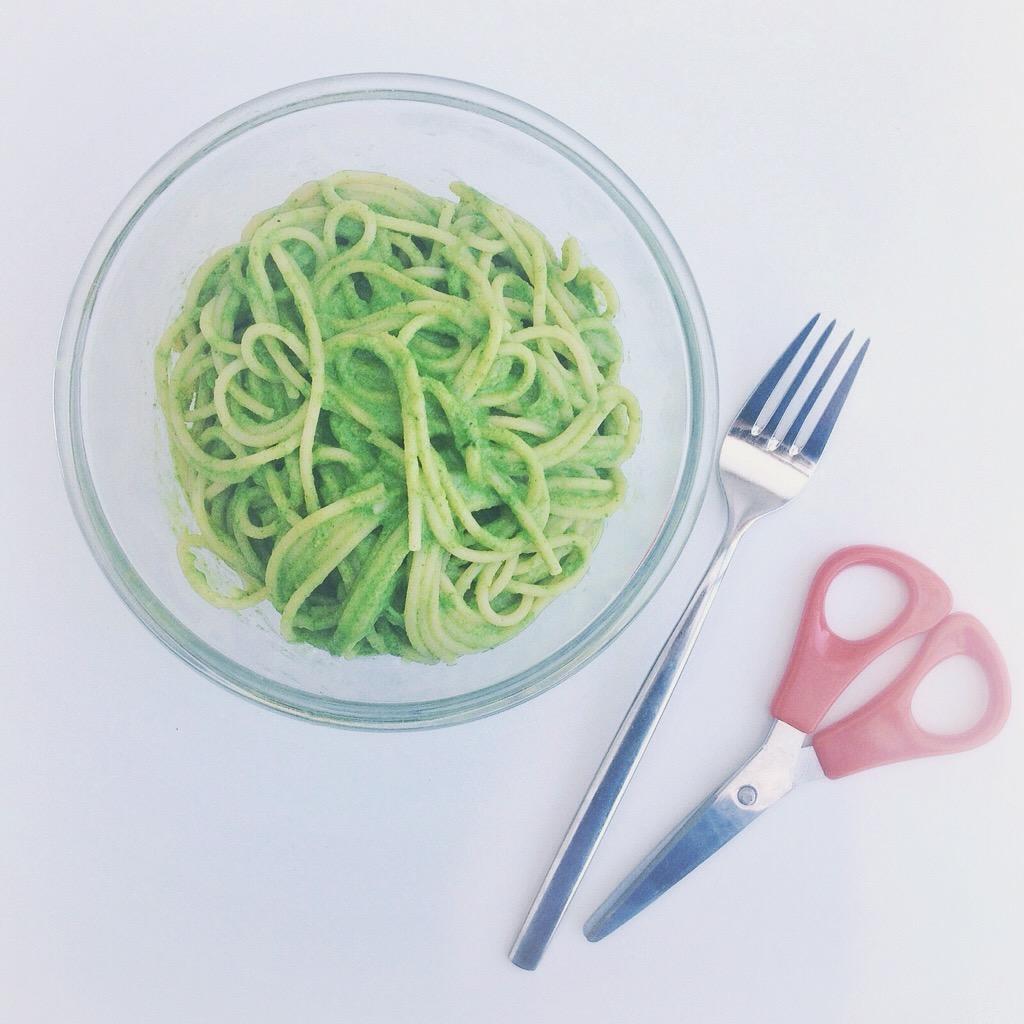 groene spaghetti by Cookingdom