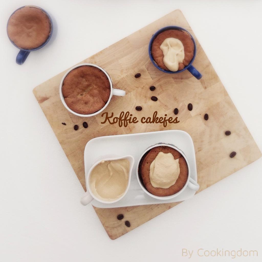 Koffie cakejes met mokkaroom