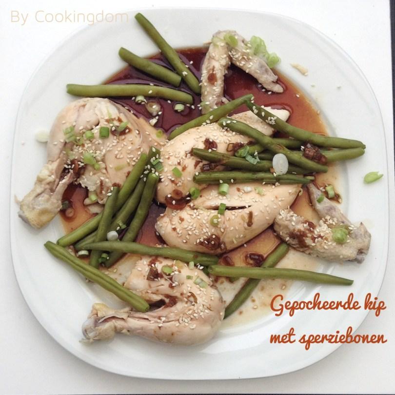 Gepocheerde kip met sperziebonen By Cookingdom