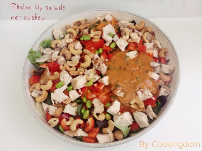 Thaise kip salade met cashew By Cookingdom