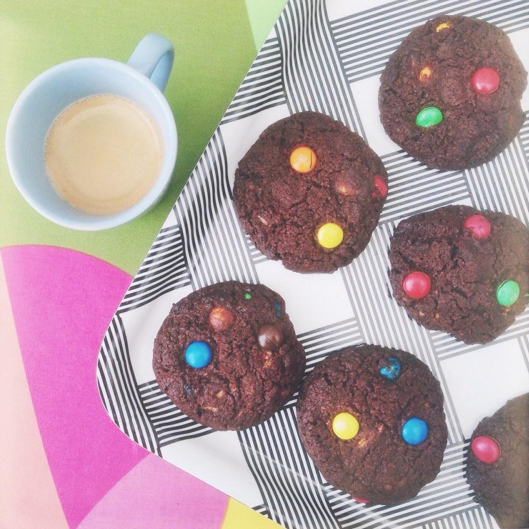 M&M koekjes met witte chocolade