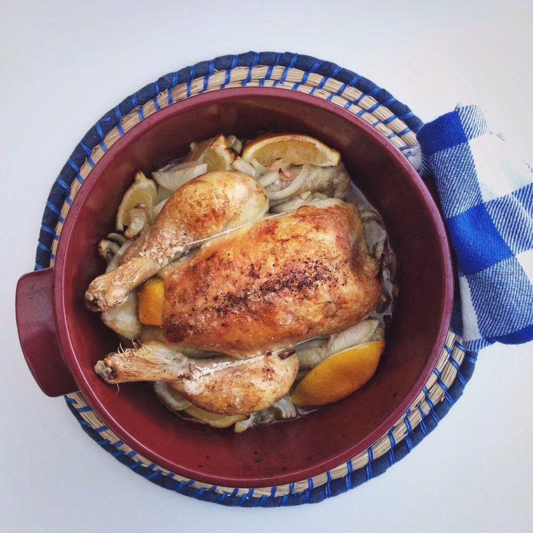 Geroosterde kip met ui en citroen, by Cookingdom